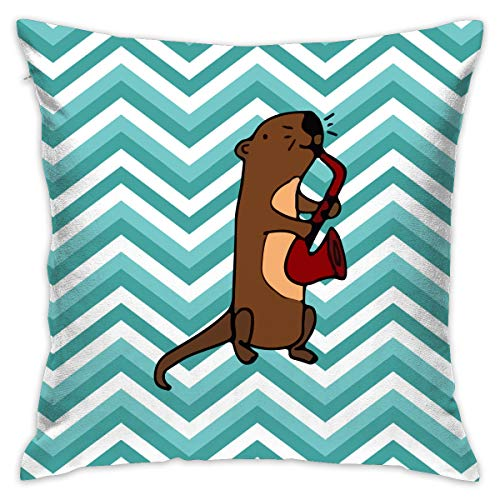 (Cheng Jian Bo Sea Otter Gifts Square Pillow Throw Cushion Covers for Home Decor Party Sofa Couch Bed Car,18