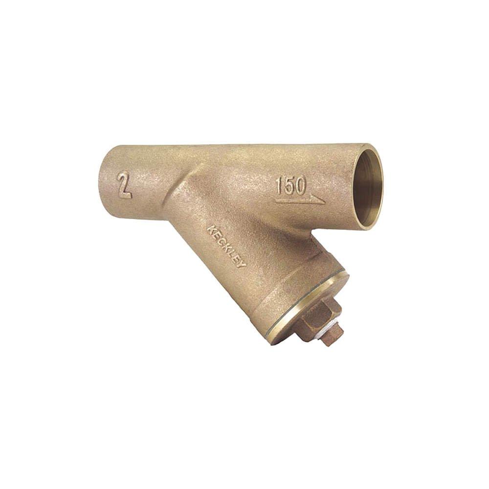 Keckley - 31SJY-BC045P34-FTI-E - 3 Y Strainer, Sweat, 3/64 Mesh, 11-3/4 Length, Bronze