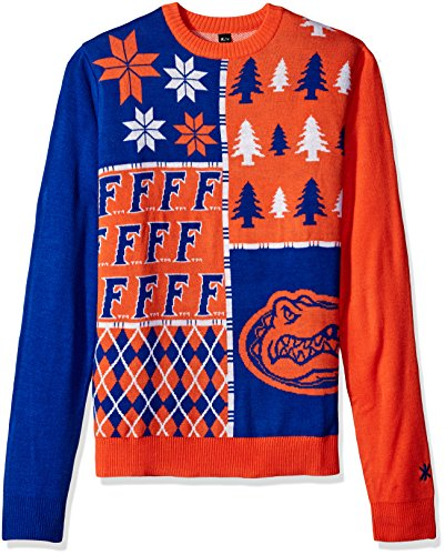 Klew NCAA Busy Block Sweater - Large - Florida Gators