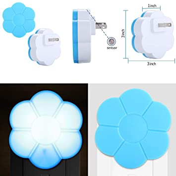Rumas Plug in Night Light with Auto Dusk to Dawn Sensor - Flower Shape LED Night