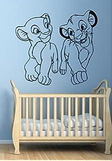 Amazoncom Personalized Lion King Wall Decal Custom Name Disney - Lion king nursery wall decals