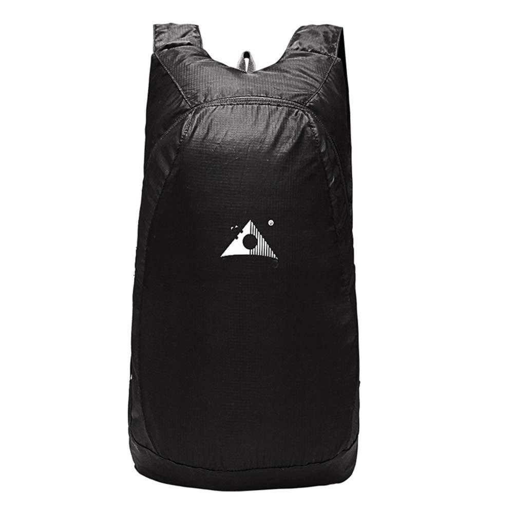 Black 20L KOFULL Travel Backpack, 20L Ultralight Foldable Packable Small Hiking Travel Daypack Backpack for Women Men