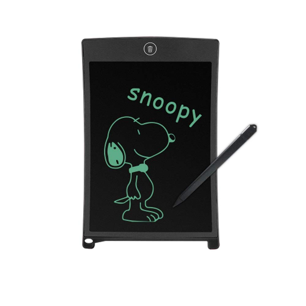 Hzna 8.5 Inch LCD Writing Board Digital Drawing Electronic Writing Board Message Graphics Old Man Writing Light Energy Drawing Board (Color : Black)