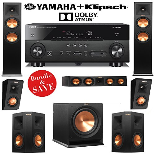 Klipsch RP-260F 5.1.2 Dolby Atmos Home Theater Speaker Syste