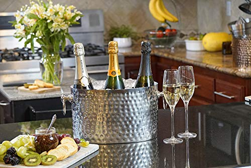 Chic Chill Handcrafted Artisan 3 bottle Champagne and Wine Chiller (Stainless Steel) by Chic Chill (Image #4)