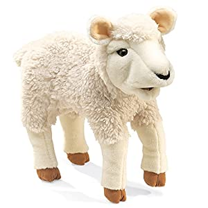 Folkmanis Lamb Hand Puppet - 51etzOlj58L - Folkmanis Lamb Hand Puppet