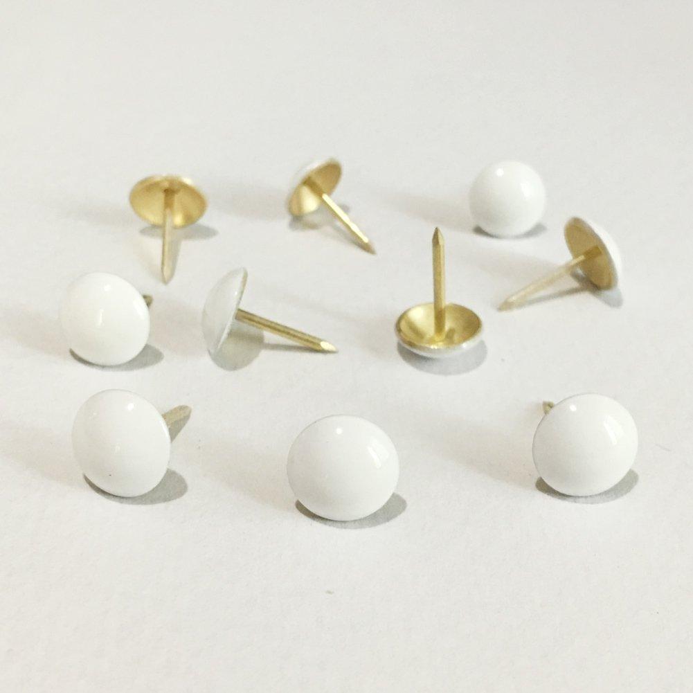 500pcs a lot: D11mmxH17mm White Painted Sofa Upholstery Tacks Decorative Tacks Hobnail Drum Nails Upholstery Nail