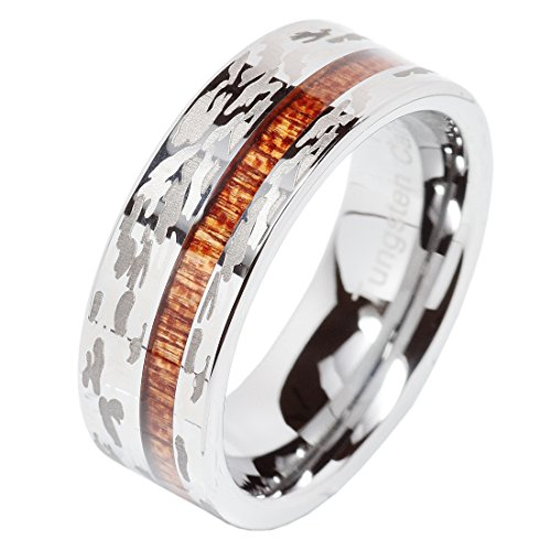 Tungsten Hunting Silver Wedding Comfort