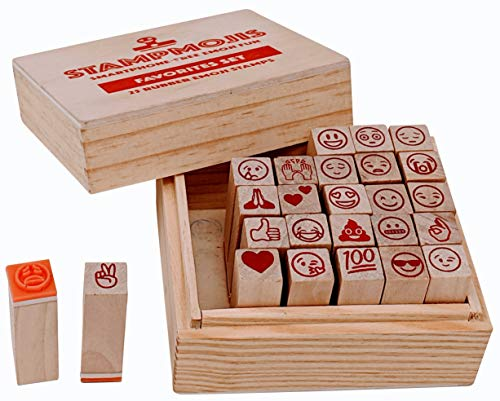 Emoji Stamps by Stampmojis (Favorites Set) Great Stamps For Kids, Scrapbooking Supplies, Emoji Crafts, Emoji Stickers Alternative best to buy