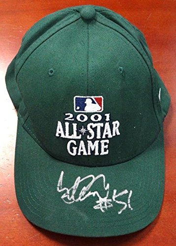 "Ichiro Suzuki Autographed Nike 2001 All Star Game Green Hat""51"" IS Holo 78915 Autographed Hats"