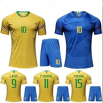 mqtwer 2018 Camiseta Brasileña Equipo Nacional De Manga Corta Ropa De Fútbol Amarilla En Casa. XXL, Traje De Casa No Está Impreso: Amazon.es: Deportes y ...