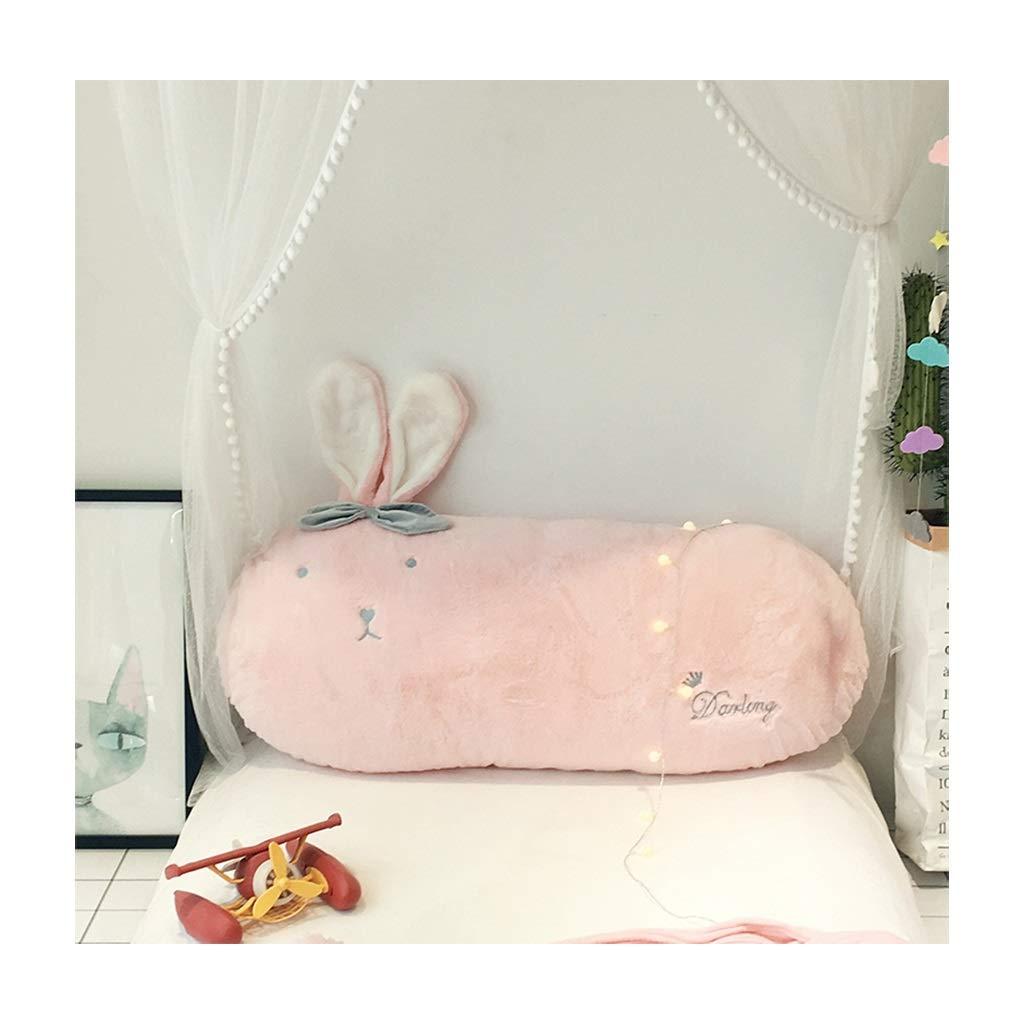 NJYT ベッドサイドクッション、ピロー漫画ダブルパッドソフトバッグ大型ソファベッドクッションリムーバブルオフィス02 (色 : Pink(A), サイズ さいず : 55*120cm) B07RSFD9M1 Pink(A) 55*120cm