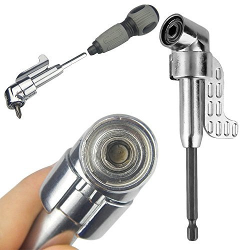 Mangocor 1/4 Inch 105 Degree Adjustable Hex bit Angle Driver Electric Screwdriver Magnetic Bit Wrench Hex Bit Drive Offset Attachment hot
