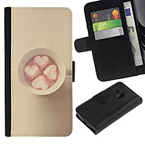 KingStore / Leather Etui en cuir / Samsung Galaxy S3 MINI 8190 / Jaune Rose