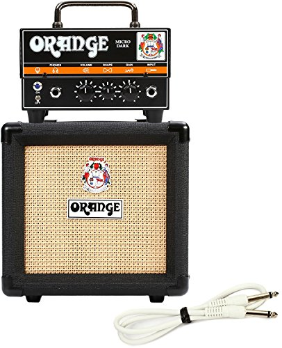Hybrid Guitar Amps (Orange Micro Dark Terror Hybrid Amp Head Mini Stack Combo w/ Cabinet and Speaker Cable)