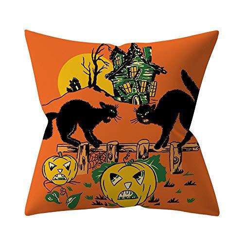 LOKODO Halloween Pumpkin Throw Pillow Cover Pillowcases Decorative Sofa Cushion Cover Pillow Protectors