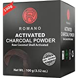 Activated Charcoal Teeth Whitening Powder Organic Natural Tooth Whitener Stain Remover Black Toothpaste for Sensitive Teeth Safe on Gums & Enamel Non-Abrasive Raw Coconut Shell Food Grade