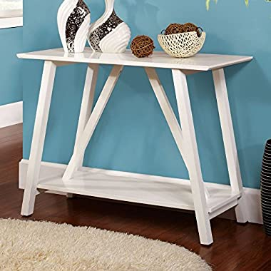 Furniture of America Chantalle Console Table - White