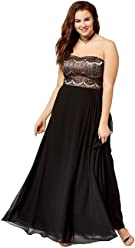 4fc7c4cda1d City Chic Trendy Plus Size Strapless Pleated Gown