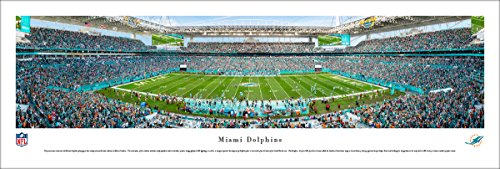 Miami Dolphins Framed Wall - Miami Dolphins - 50 Yard at Hard Rock Stadium - Blakeway Panoramas Unframed NFL Posters