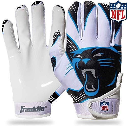 - Franklin Sports NFL Carolina Panthers Youth Football Receiver Gloves - Medium/Large