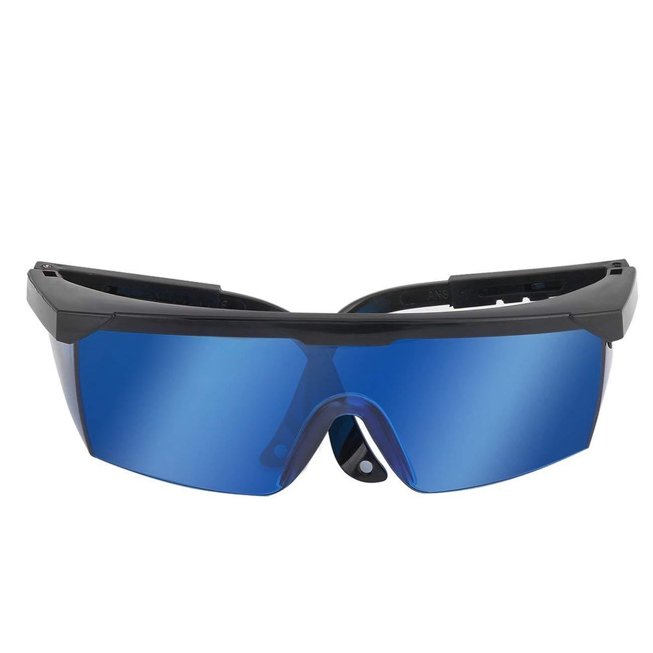 Elviray Gafas de Seguridad l/áser para Violeta//Azul 200-450//800-2000nm Absorci/ón Gafas Protectoras Redondas Gafas de protecci/ón l/áser Gafas