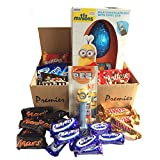 Minions Easter Hamper with Milk Chocolate Egg, Pez Dispenser and All your Favorite Fun Size Chocolates, Perfect Easter Gift