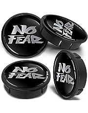 SkinoEu 4 x 60mm ABS Car Alloy Wheel Centre Universal Rims Hub Center Caps Auto Tuning Logo Emblem Silver Black Gloss No Fear CX 18