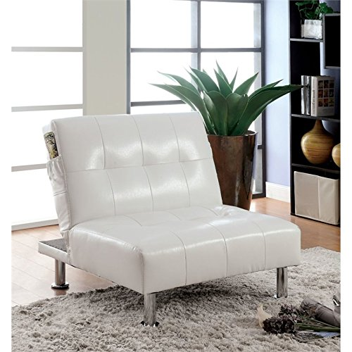 Furniture of America Hollie Faux Leather Accent Chair in ()