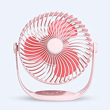 Three-Speed Adjustment Ultra-Quiet Color : A Creative Portable Small Fan JIAOBA USB Charging Fan 360-degree Rotating Small Fan Rechargeable Desktop Small Fan