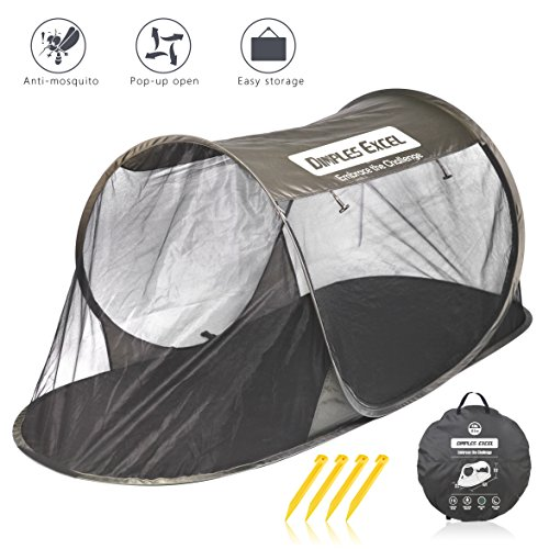 (Dimples Excel Single Instant Pop Up Mosquito Net Automatic Self-expanding Tent for Outdoor, Beach, Hiking, Traveling, Backyard, Backpacking (Automatic tent - army green))