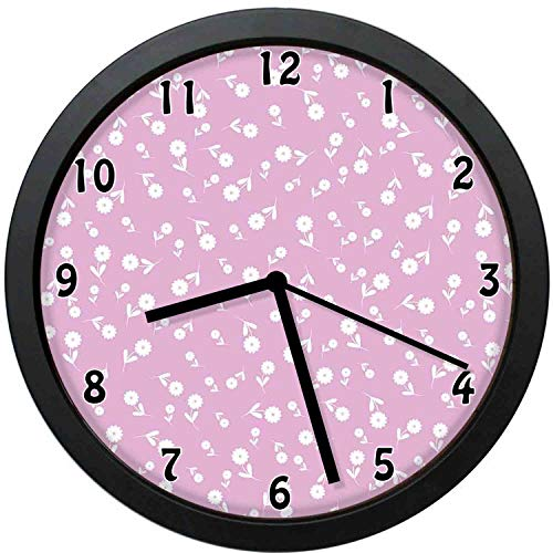 YiiHaanBuy Mauve Decorative Wall Clock,Cute Floral He Leaf Flourish Western Elegance Motifs with Nature Influences- Silent Quartz Wall Clock,The Best Gift for Loved Ones,Friends,couples-12inch (All Quiet On The Western Front Nature)