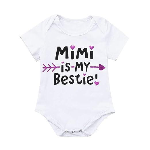 dfdec38fd Amazon.com  Infant Newborn Baby Boy Girl Jumpsuit Short Sleeve ...