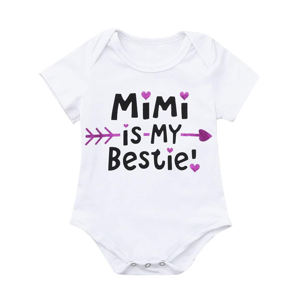 Infant Newborn Baby Boy Girl Jumpsuit Short Sleeve Romper Letter Playuit Outfits Clothes Set Black