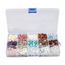 Generic 15 Kinds of Bulk Stone Beads Tumbled Gemstones Beads for Jewelry Making