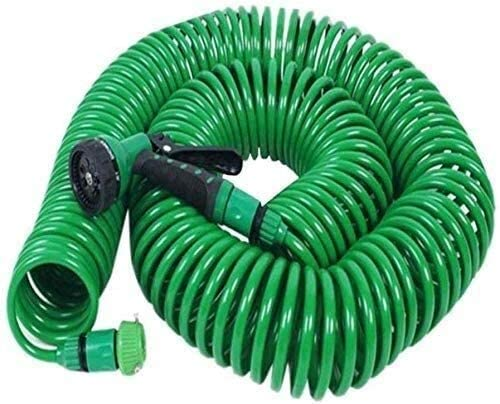 HLJ Hose Pipe Garden Water Spring Hose Expandable Pipe, Telescopic Household Hose with Multi Function Spray Garden Nozzle for Car Lawn Watering Irrigation (Color : 30m) 15m
