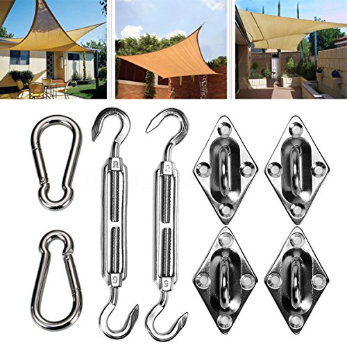 8'' Rectangle Square Sun Shade Sail Stainless Steel Hardware Installation Kit 8X by Generic