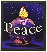 Gift Trenz Peace Globe with Butterfly Magnetic Bookmark