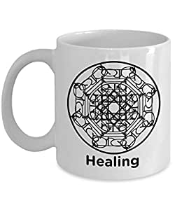Healing Mandala Mug - Circle of Healing - 11oz Coffee Mug - Fun - Inspirational - Novelty Mug - Makes a Great Gift for Anyone