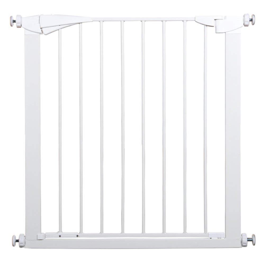 ペットドアが付いている余分広くそして高い赤ん坊のゲートは手すりへの階段の出入り口の手すりの壁の保護装置77-126CMの幅、高さ91cm(サイズ:77-84cm)に取り付けます 84-91cm  B07V95BZ99