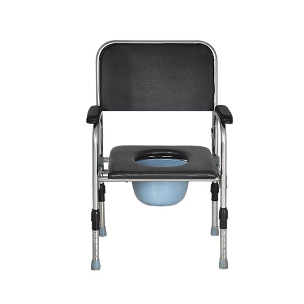 LXN 折りたたみ式トイレ椅子とトイレの椅子のバスルームのアンチスリップ調節可能な高さのバスルームシャワーのスツール高齢者/妊婦/障害者のトイレの椅子 B07DV257DX