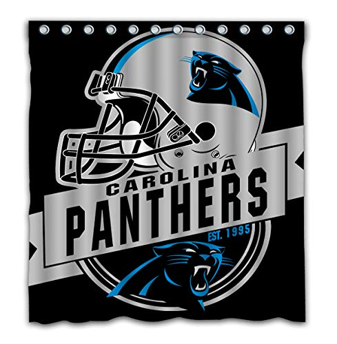 Felikey Custom Carolina Panthers Waterproof Shower Curtain Colorful Bathroom Decor Size 66x72 Inches