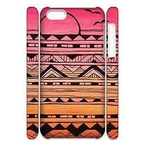 Aztec Tribal Pattern Custom 3D Cover Case for Iphone 5C,diy phone case ygtg537992