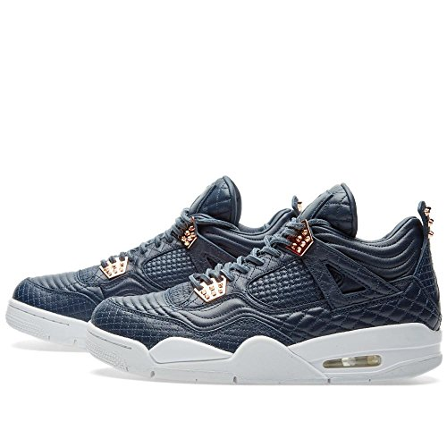 Herren Air Jordan 4 Retro Pinnacle Premium 819139-402 Schwarz / Weiß // Action Grün