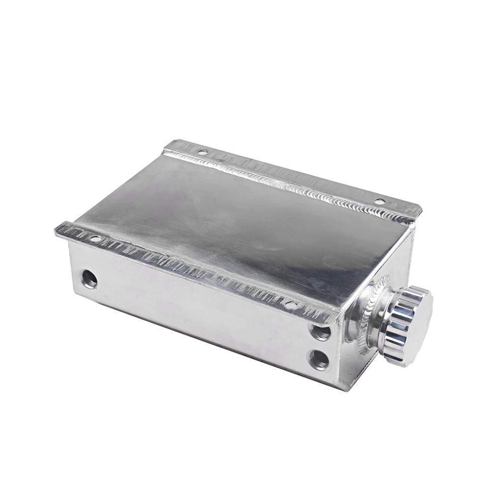 KKmoon Serbatoio di riserva Universale per Auto 2 l Rivestimento in Alluminio