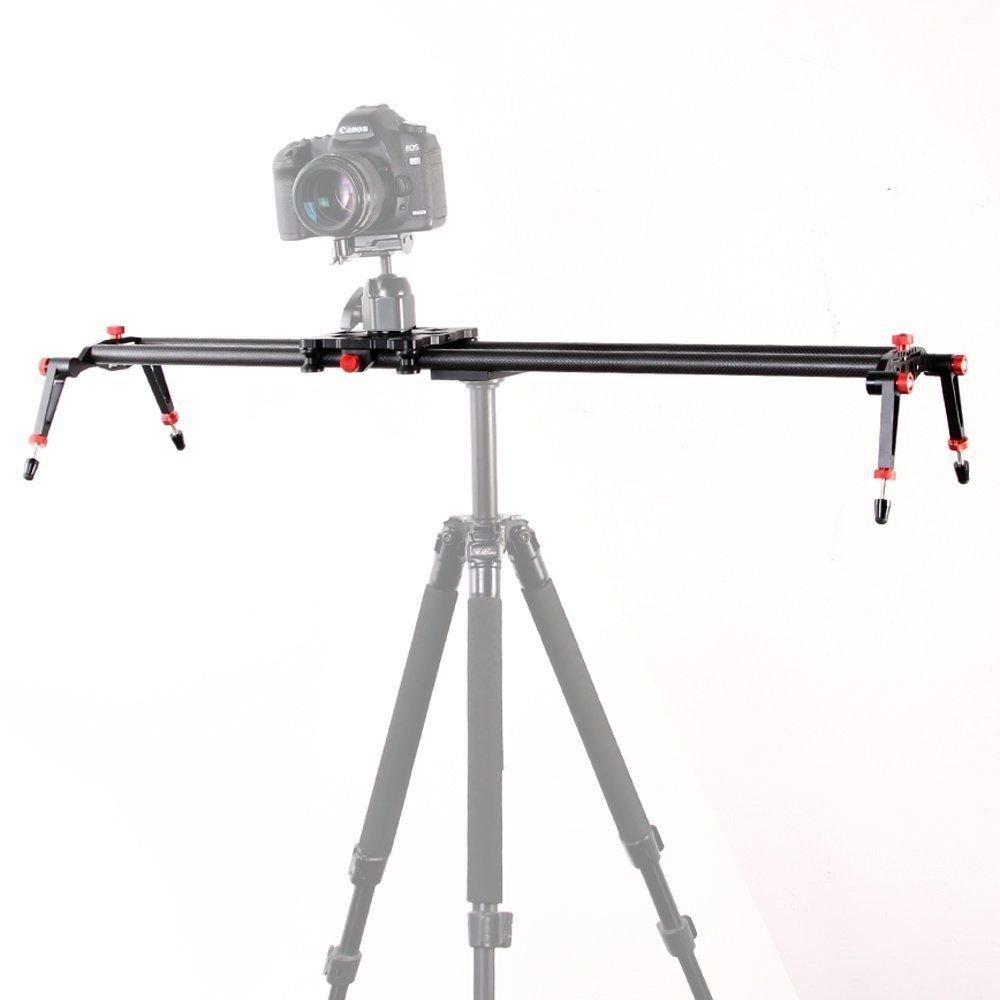 Fotga 48'/120cm Professional Carbon Fiber Slider Stabilizer Dolly Track for Studio Dslr Camera Video Rail System (48' Carbon Fiber Slider) AF156