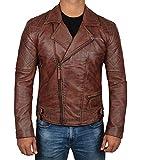 Decrum Distressed Brown Mens Leather Jacket | Frisco, M
