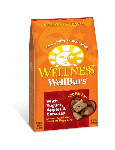 Wellness Wheat Free Oven Baked Biscuits for Dogs, WellBars Yogurt, Apples and Banana, 50-Ounce Box, My Pet Supplies