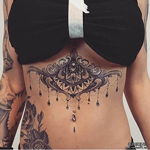 10 Sheets Metallic gold Colorful Temporary Paper Sexy Body Tattoo Sticker Water Transfer Tattoo for Professional Make Up Dancer Costume Parties, Shows (TJ-B03)