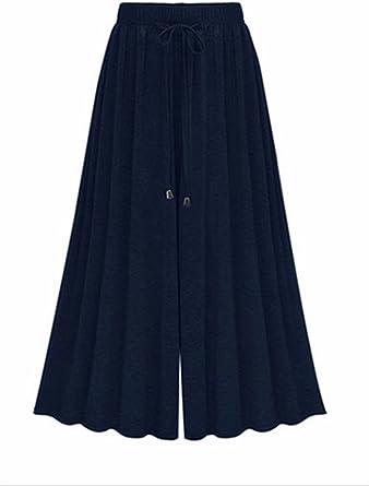 Femme Pantalons Jupe culotte Pantalon de jogging large OverDose Taille Haute Pantalon large ceinturé